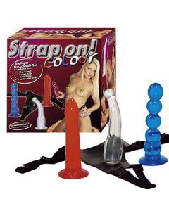 Strap on! Colour,Vaidettavilla värillisillä dildoilla, Strap-On Ja Klitoriskiihottimet