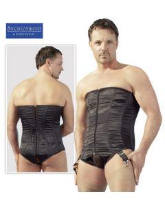 Men's corset black, Miesten korsetti, Yhdistelmät