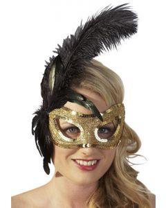 Feather Mask, kultainen maski, Käsilaukut, käsineet, päähineet ja muut , Muu