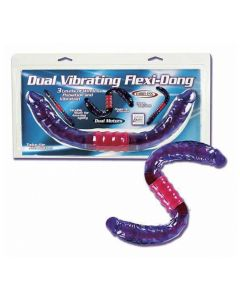 Dual Vibrating Flexi-Dong, kaksipäinen dildo, Dildot ja pumpattavat dildot, OUTLET