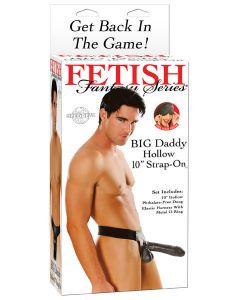 BIG Daddy Hollow 10 inch Strap-On, Seksivälineet, Strap-On Ja Klitoriskiihottimet, Seksilelut miehille, Proteesit ja tuet