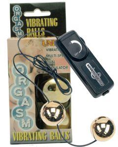 Orgasm Vibrating Ball – Gold, Seksilelut ja seksivälineet , Naisten seksilelut ja seksivälineet, Minivibrat ja kuulat